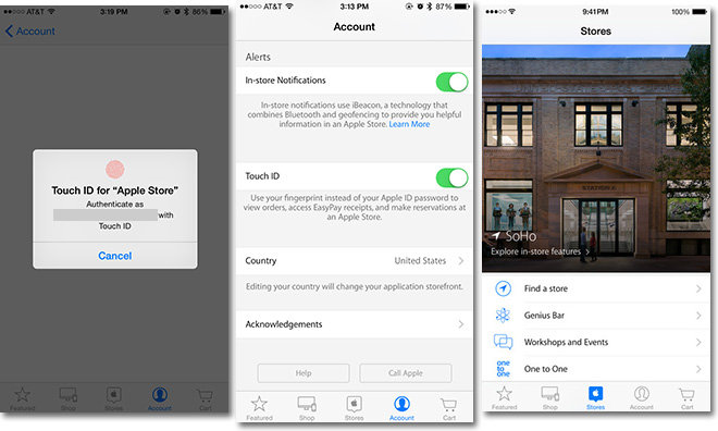 Apple Store app updated with two-step authentication, deeper Touch ID integration