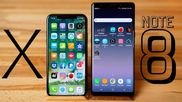 photo image Video: Apple iPhone X versus Samsung Galaxy Note 8 benchmark comparison