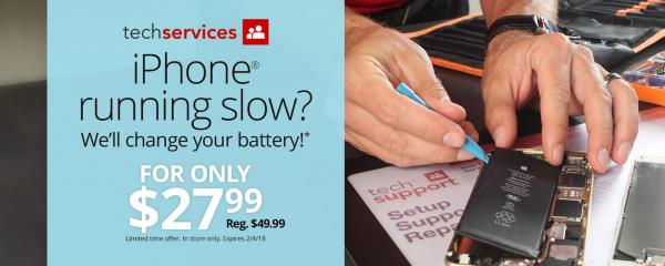 photo image Office Depot, OfficeMax temporarily drop iPhone battery replacement cost to $28