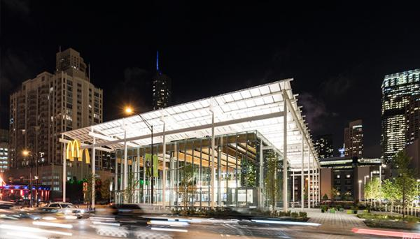 photo image McDonald's in Chicago is the latest Apple Store copycat - but not the first by far