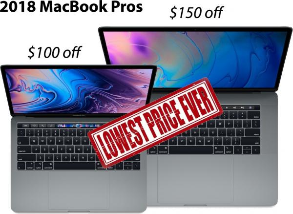 photo image Save up to $1,400 on Macs, including the lowest prices ever on Apple's 2018 MacBook Pro