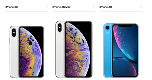 photo image Compare the iPhone XS and iPhone XR versus the size of other iPhones with this printable guide
