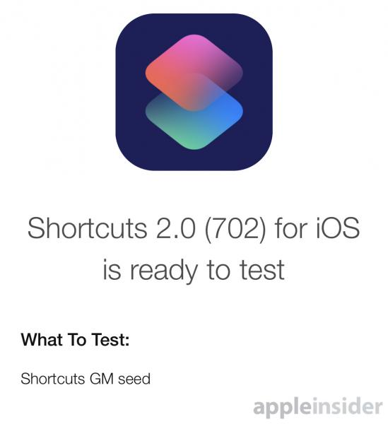 photo image Apple seeds Shortcuts GM build to developers ahead of release