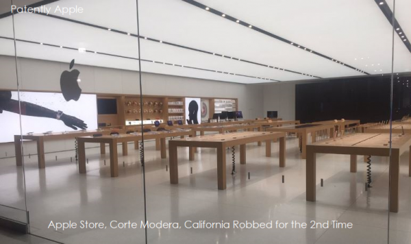 Another Apple Store Smash and Grab Happened in Corte Madera California Last Night taking $24,000 worth of Devices