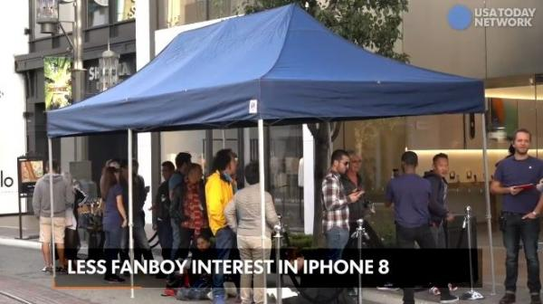 Are the Reports pouncing on the smaller Lines outside Apple Stores for the iPhone 8 really newsworthy?