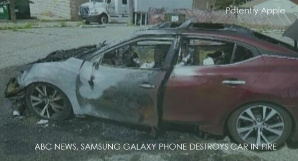 photo image Nissan Maxima Completely Destroyed in Fire Reportedly caused by Samsung Smartphones
