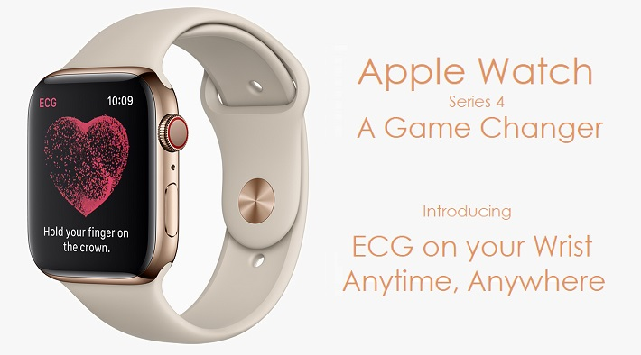 photo image Apple Introduces the 'Game Changing' Apple Watch Series 4 that Delivers a Powerful FDA Approved ECG
