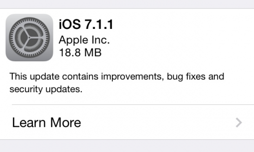 Apple releases iOS 7.1.1 with…