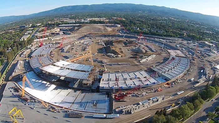 Exclusive Video: Apple Campus 2 Spaceship ring rising with Lego-like interlocking slabs