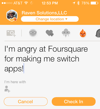 Say goodbye to Foursquare…