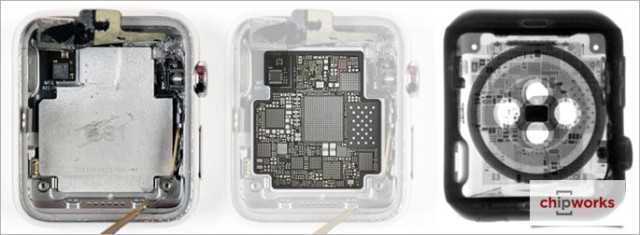 The Apple Watch's S1 chip looks great under X-Ray