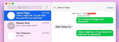 Apple brings SMS Continuity back to OS X…