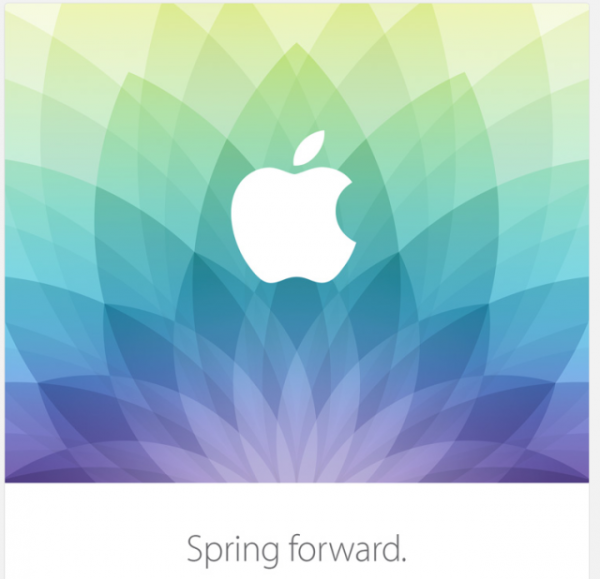 "Apple invites us to ""spring forward"" at its March 9 event"