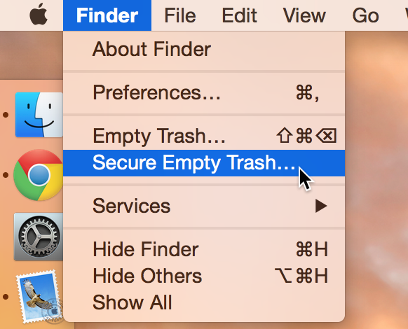 Empty Trash versus Secure Empty Trash – what's the difference?