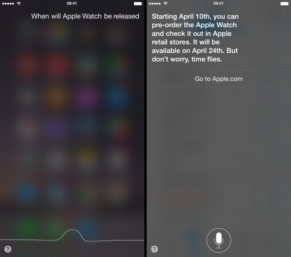 Siri can't wait for Apple Watch