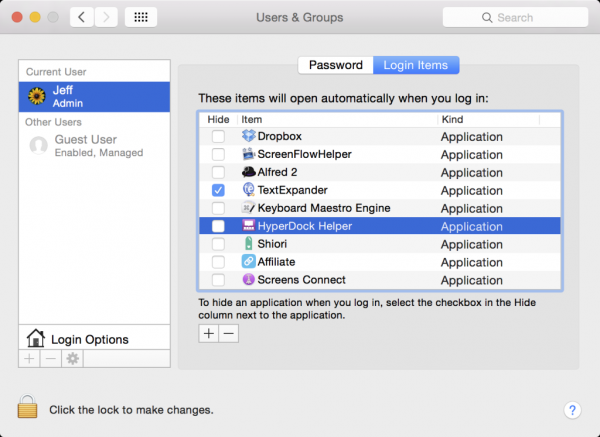 How to configure apps to launch at system startup on Mac