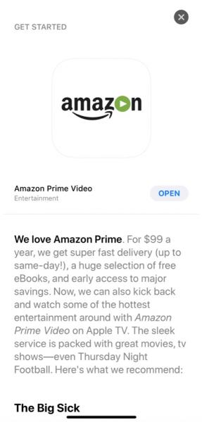 photo image Apple Accidentally Promotes Amazon Prime Video for Apple TV in App Store, Launch Could Be Imminent