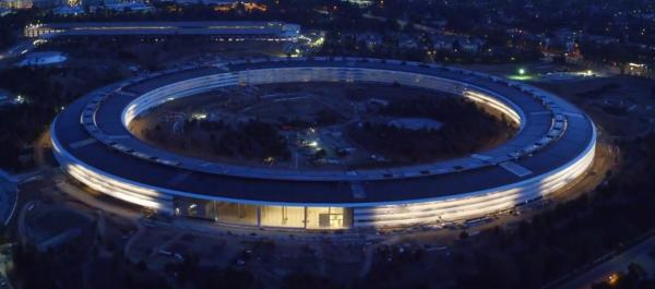 Latest drone flyover video shows gorgeous sunset footage of Apple Park