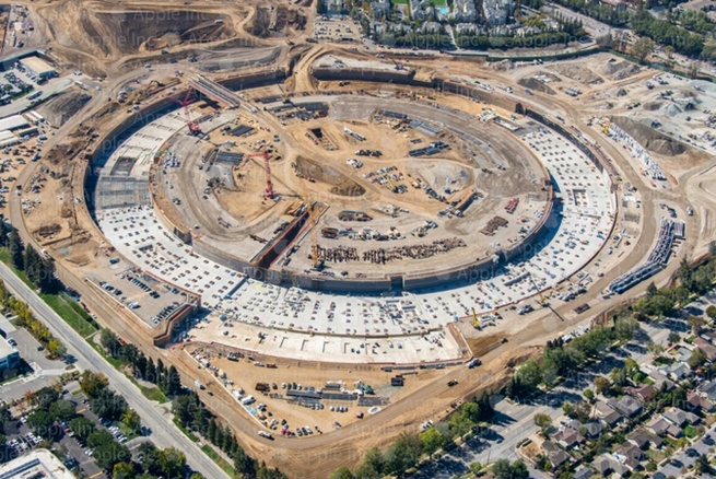 Apple Campus 2 Drone video update