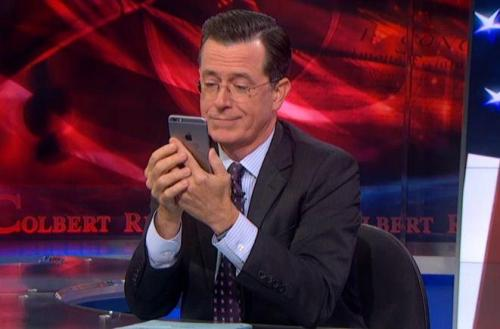 Stephen Colbert tries the new…