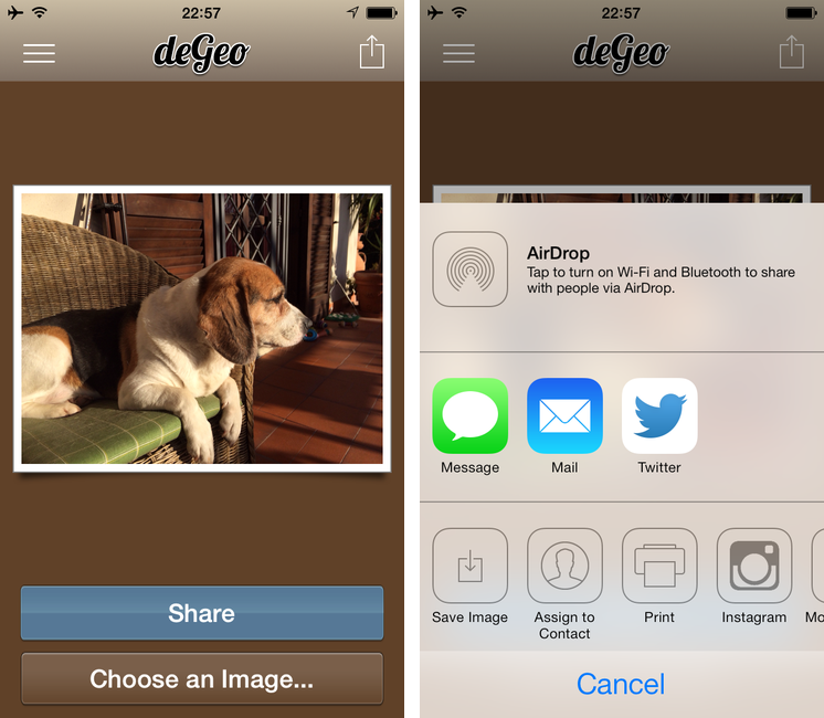deGeo: A Simple, Useful Geotag Remover for iOS