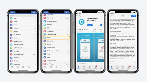 photo image Facebook's 'Protect' feature on iOS essentially installs spyware on iPhone and iPad