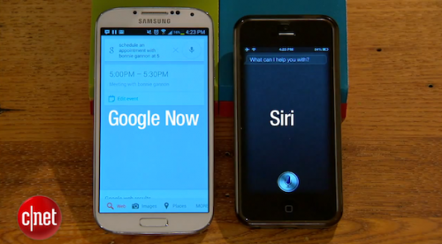 Siri vs. Google Now video…