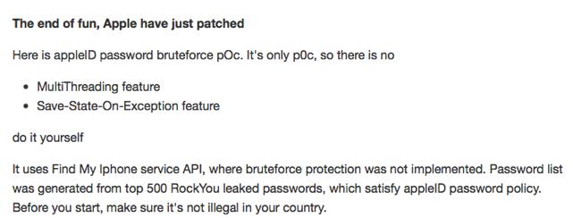 iCloud password hack…