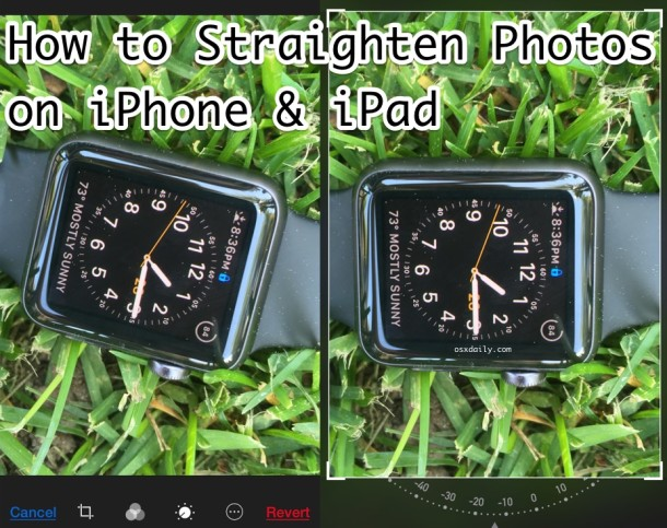 How to Straighten Photos on iPhone & iPad