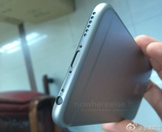 Grey hull of the iPhone 6 shows off…
