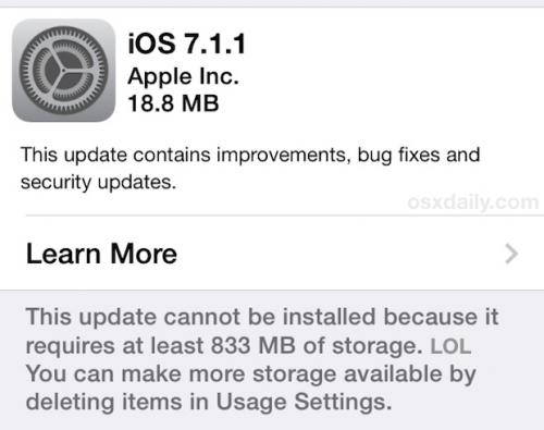iOS 7.1.1 Released with Bug…