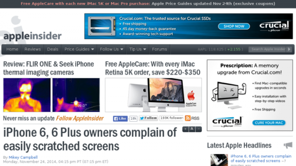 iPhone 6, 6 Plus owners complain of easily scratched screens