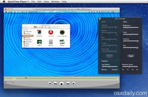 Run QuickTime Player 7 in OS X…