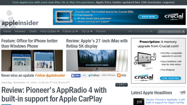 Review: Pioneer's AppRadio 4 with built-in support for Apple CarPlay