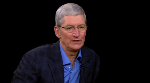 Part two of Charlie Rose's Tim Cook…