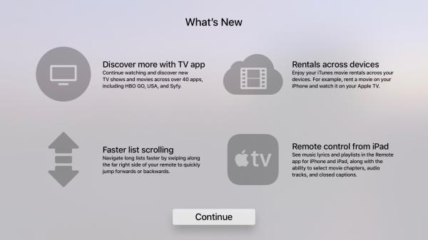 tvOS 10.2 beta hints at upcoming Apple TV Remote for iPad, other new features