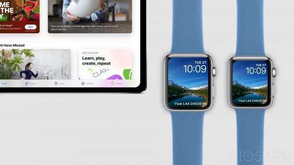 photo image Gallery: Visualizing an 11-inch iPad Pro and bezel-free Apple Watch Series 4