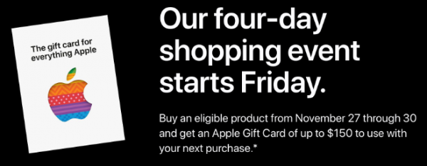 Apple's four-day Black Friday event:…