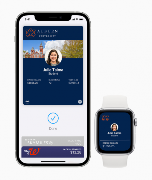 Student IDs on iPhone and Apple Watch…