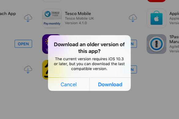 photo image How to download prior versions of apps onto an older iPhone or iPad that can't run iOS 12