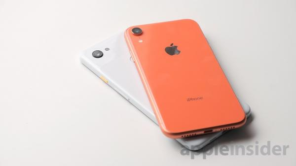 photo of Comparing Apple's iPhone XR versus Google's Pixel 3a XL image