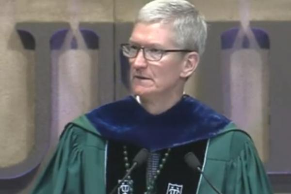 photo of Tim Cook tells Tulane University grads that 'my generation has failed you' image