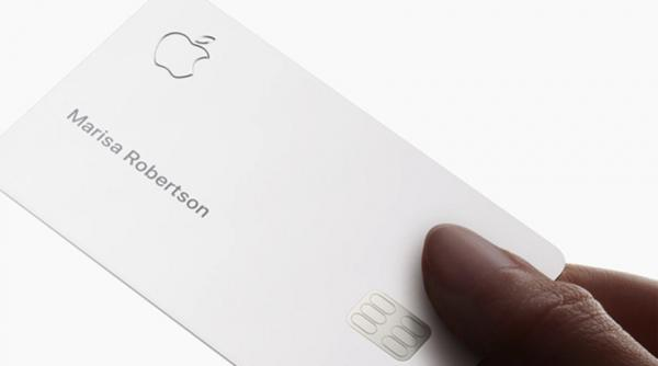 Photos of Apple Card showcase design,…