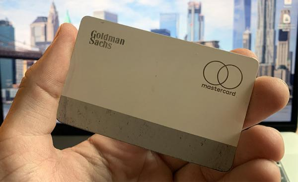 Titanium Apple Card shows signs of wear…