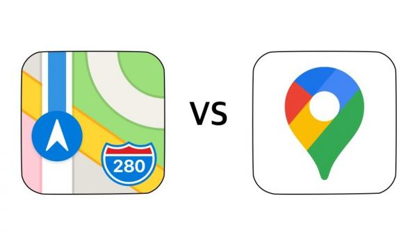 Apple Maps vs Google Maps - smartphone…