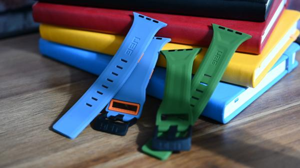 UAG's rugged silicone Apple Watch straps…