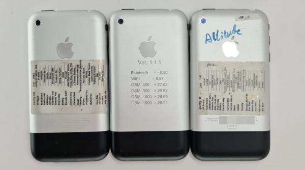 Prototype iPhones bearing engraved mute button surface in photos