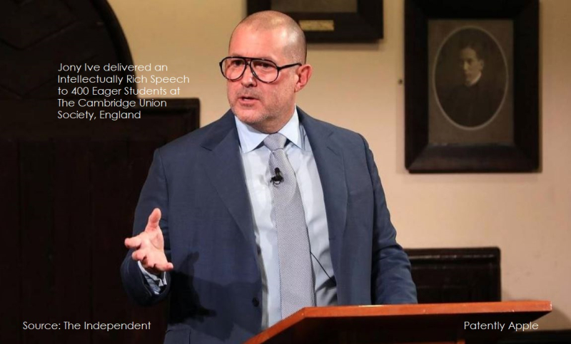photo of Jony Ive Delivers an Intellectually Rich Speech to Students at The Cambridge Union Society in England image