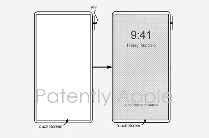 photo of Apple's iPhone X Patent Covering the Replacement of the Home Button with new Gesture Controls Surfaces in Europe image