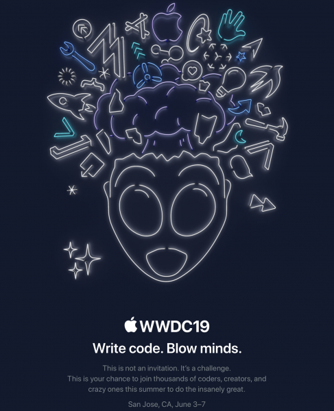 photo image WWDC19 announced for June 3 - 7, 2019: